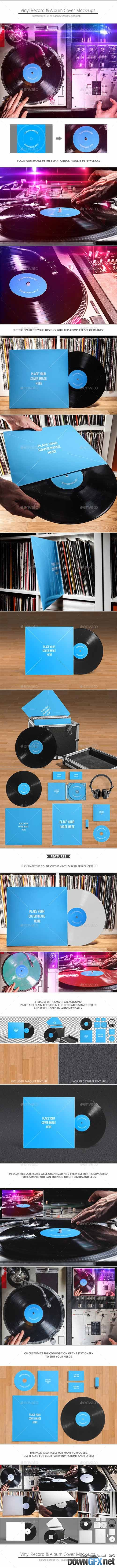Vinyl Record & Album Cover Mock-ups - Party Pack 10310707
