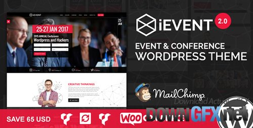 ThemeForest - iEvent v2.0.2 - Event & Conference WordPress Theme - 13397512