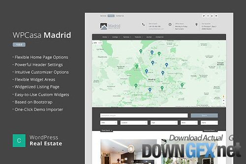 Real Estate WordPress WPCasa Madrid v1.2.0 - CM 1643173