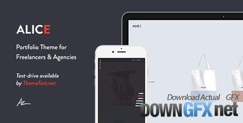 ThemeForest - Alice v2.0.4.1 - Agency & Freelance Portfolio Theme - 11302841