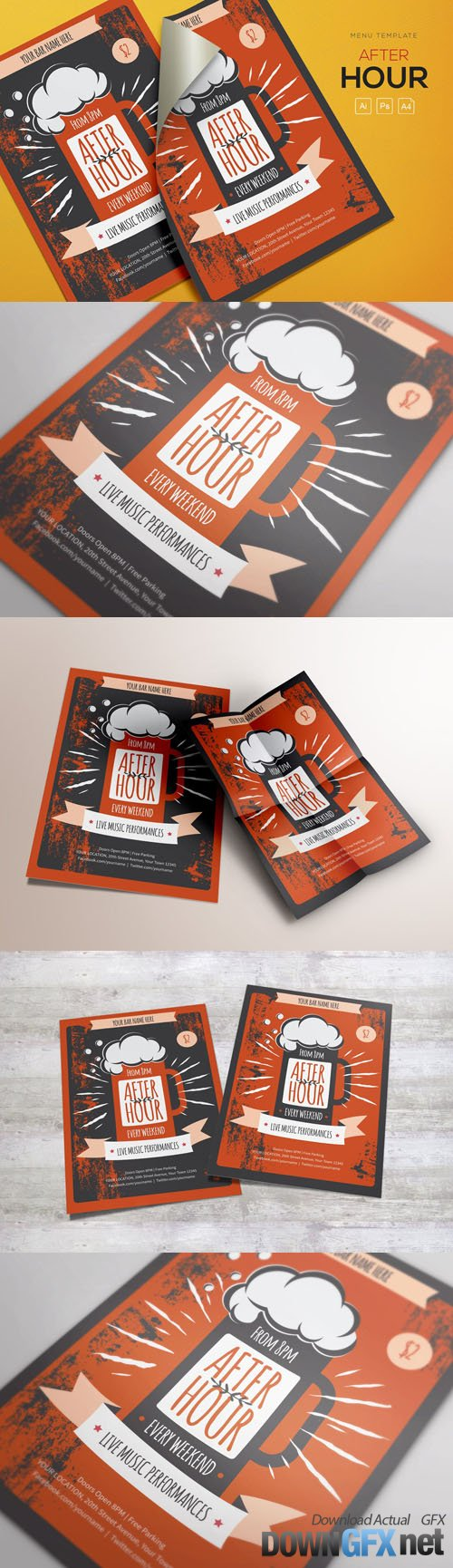 After Hour Flyers Template