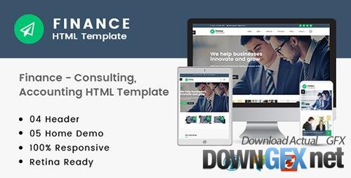 ThemeForest - Finance v1.0 - Consulting, Accounting HTML Template - 20195576