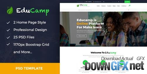 Themeforest - EduCamp - Education & Online Learning PSD Template 19867557