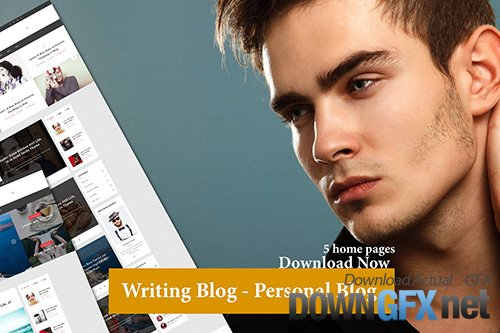 5 home with Writing Blog - Personal Blog Template