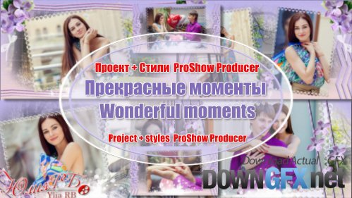 Wonderful moments - project and styles ProShow Producer