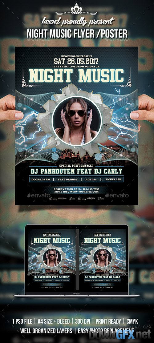 Night Party Flyer / Poster 20364265