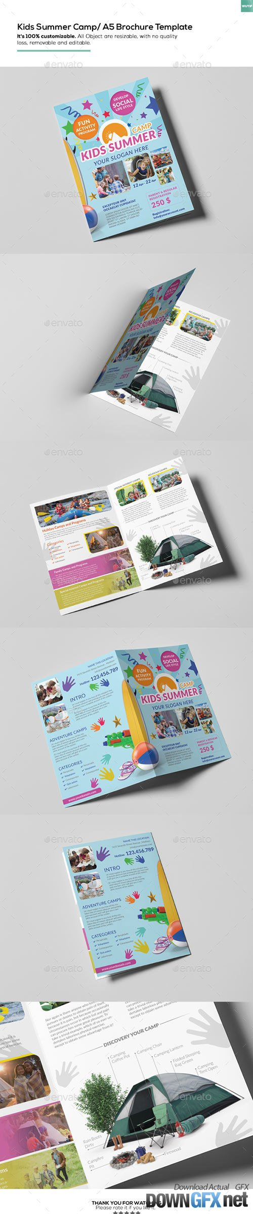Kids Summer Camp/ A5 Brochure Template 15774830