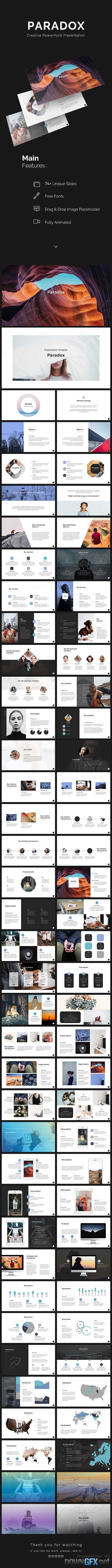 Paradox PowerPoint Template 20406480