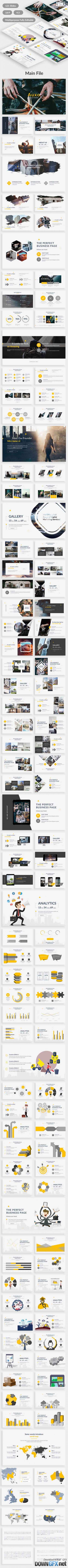 Auxo Premium Multipurpose Powerpoint Template 20470187
