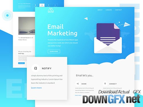 PSD Web Template - Email Newsletter - One Page Email Theme