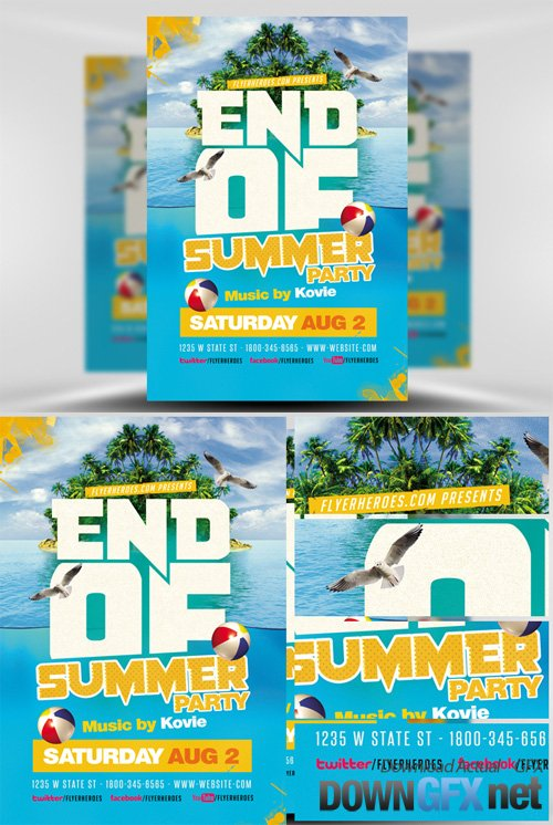 End of Summer Flyer Template