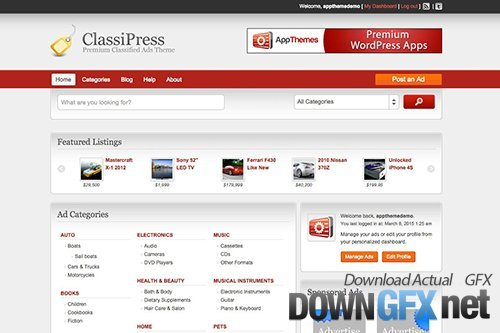 AppThemes - Classipress v3.6.0 - Bestselling Classifieds Theme For WordPress