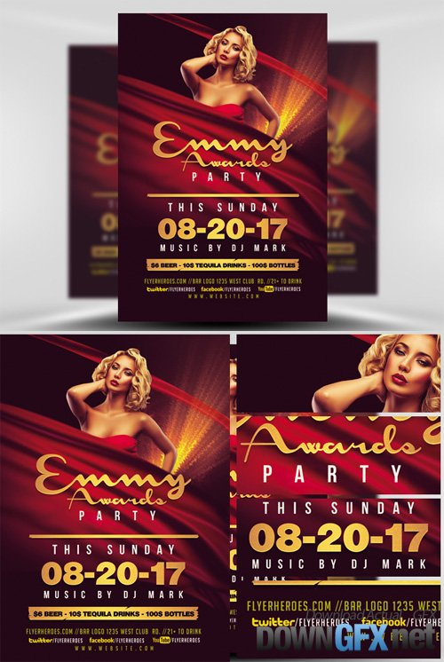 Emmy Awards Party Flyer Template