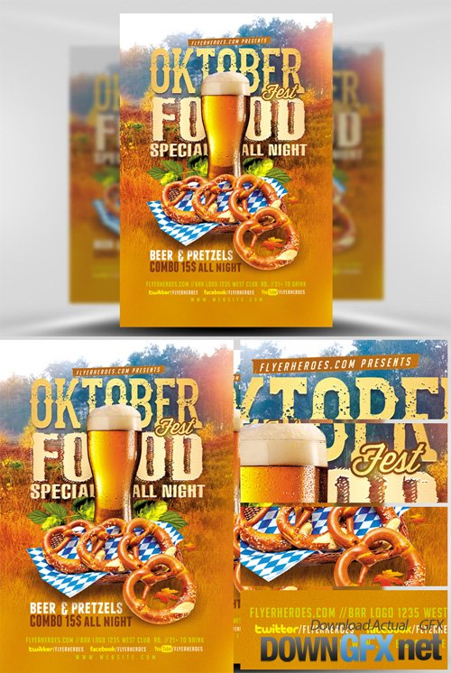 OktoberFest Food Flyer Template V1