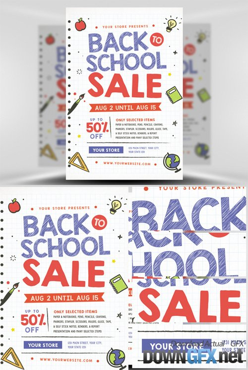 Back to School Sale Flyer Template V2