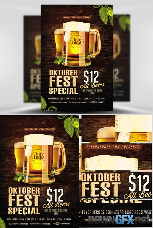 OktoberFest Drink Flyer Template V2