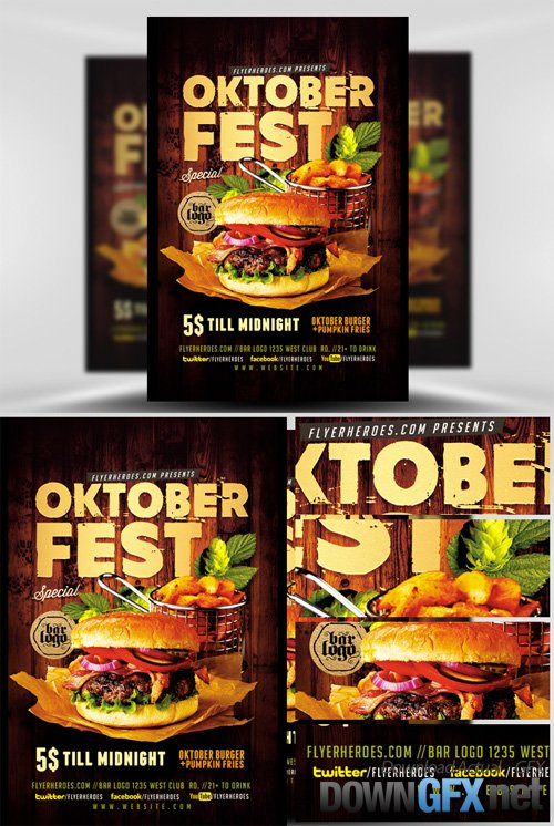 OktoberFest Food Flyer Template V4