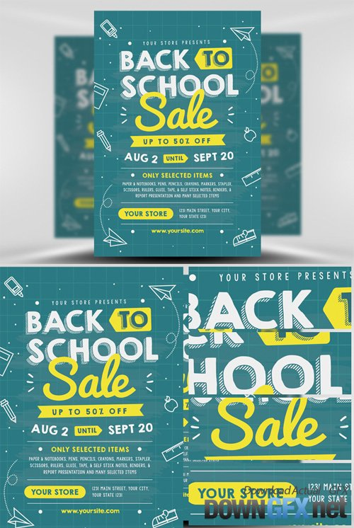 Back to School Sale Flyer Template V1