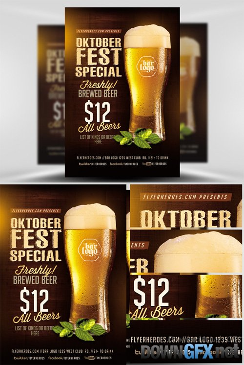OktoberFest Drink Flyer Template V1