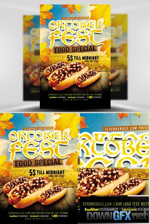 OktoberFest Food Flyer Template V3
