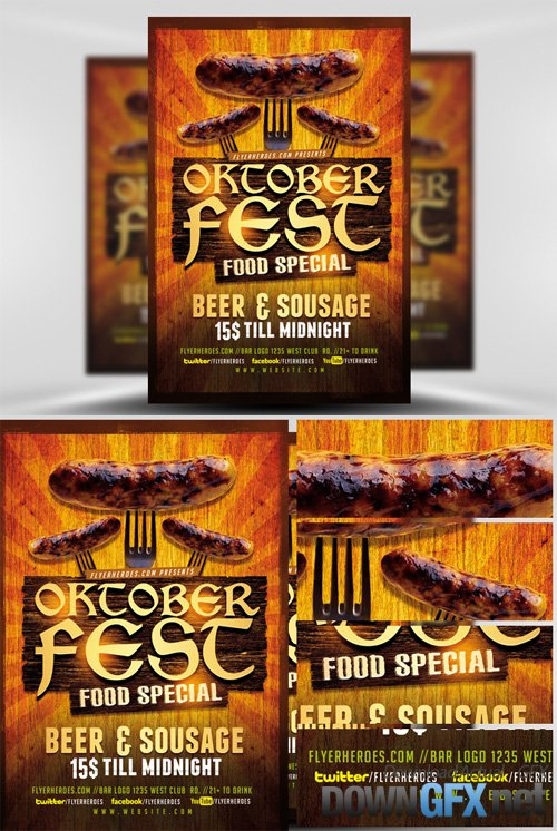 OktoberFest Food Flyer Template V2
