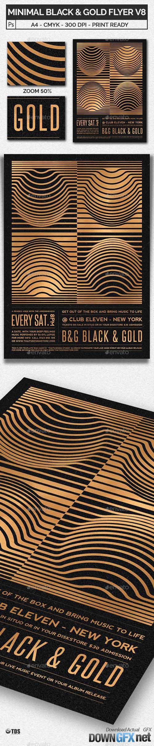 Minimal Black and Gold Flyer Template V8 20509036