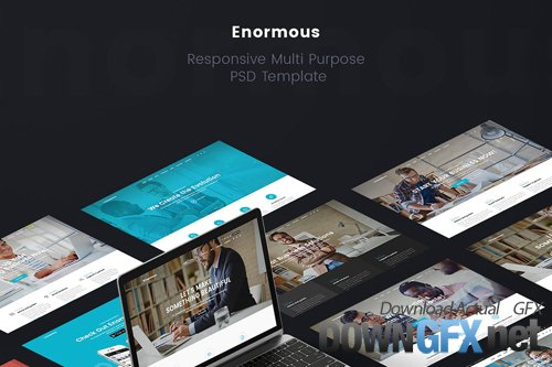 Enormous - Business Multi-Purpose PSD Template