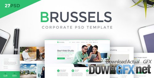 ThemeForest - Brussels v1.0 - Corporate PSD Template - 20370955