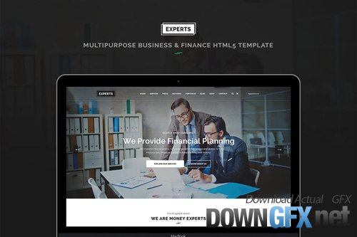 Experts Pro - Business and Finance PSD Template