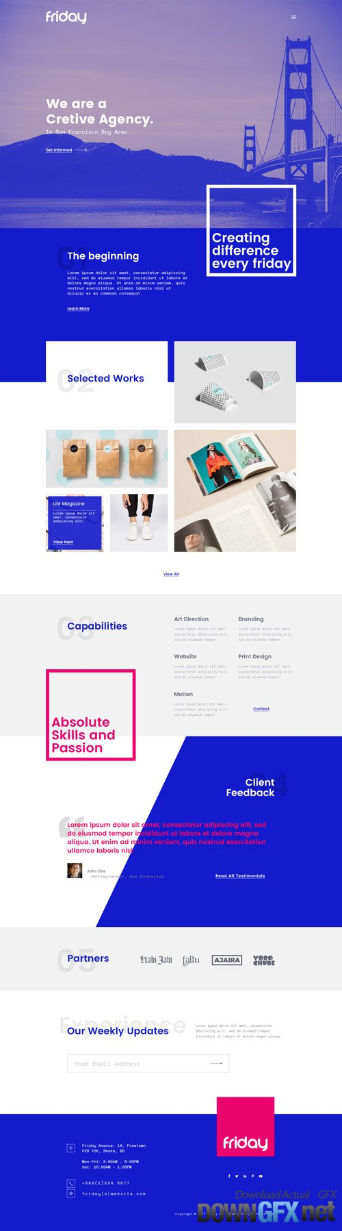 PSD Web Template - Blue Friday - One Page Theme