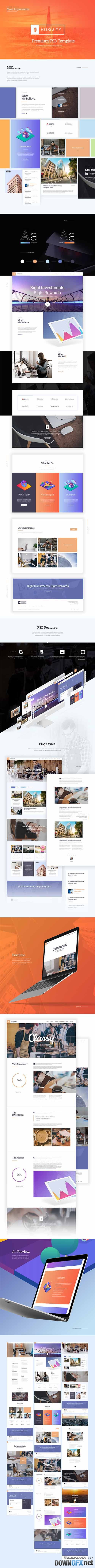 PSD Web Template - MIEQUITY - Business Theme