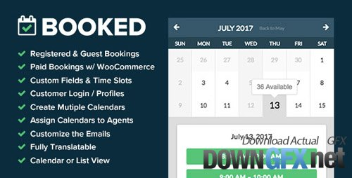 CodeCanyon - Booked v2.0.5 - Appointment Booking for WordPress - 9466968
