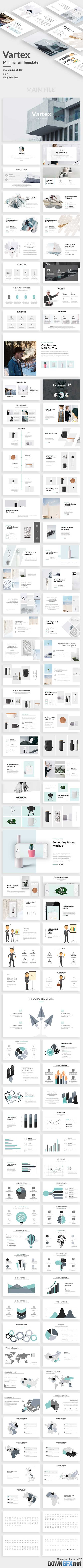 Vartex Minimal Powerpoint Template 20694199