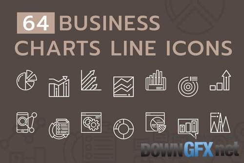 Business Chart Line Icons
