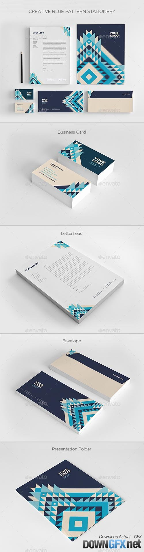 Creative Blue Pattern Stationery 20591811