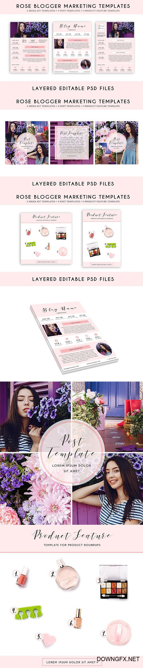 Rose Blogger Marketing Template Pack - CM 1975444