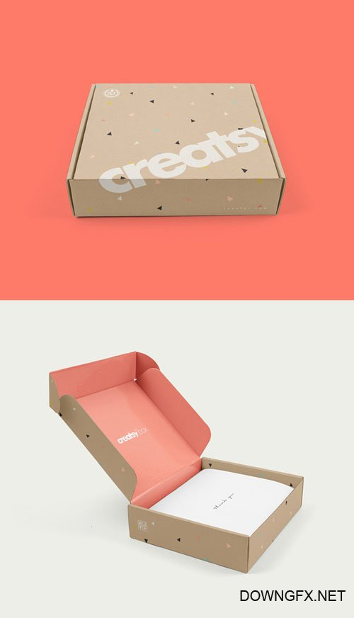 PSD Mock-Up - Mailing Box