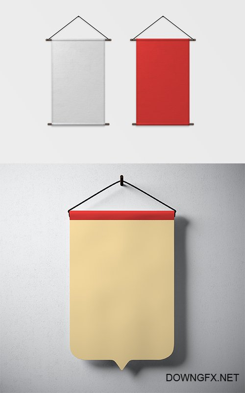 PSD Mock-Ups - Vertical Hanging Canvases