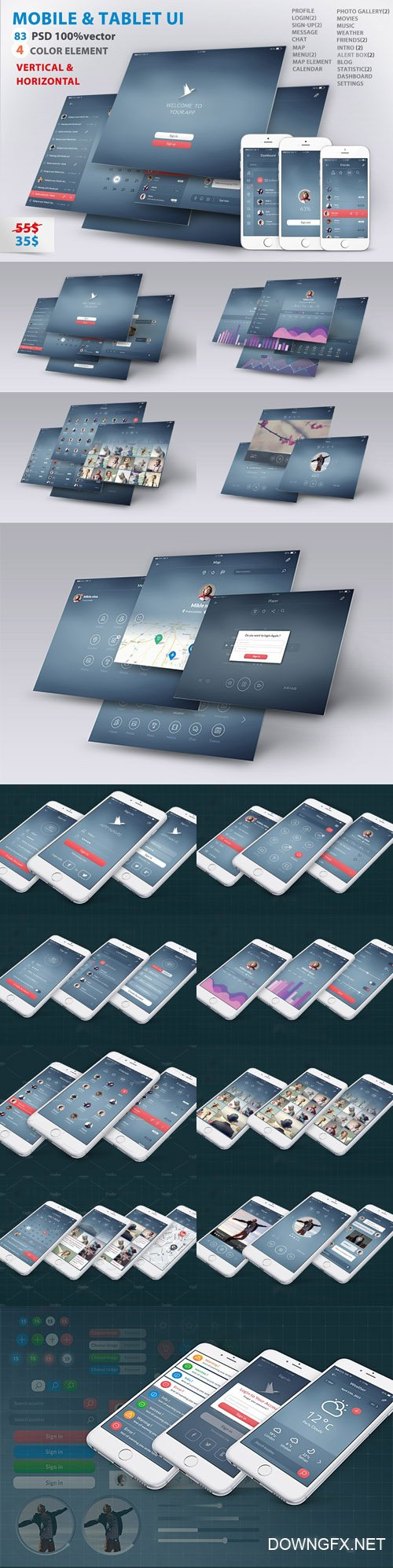 Mobile and Tablet UX UI kit - CM 1916611