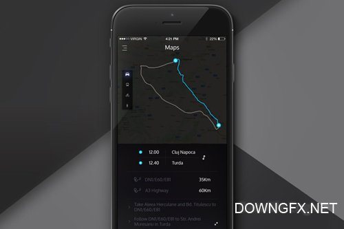 Direction/Maps App Screen