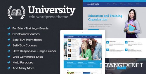 ThemeForest - University v2.0.25 - Education, Event and Course Theme - 8412116
