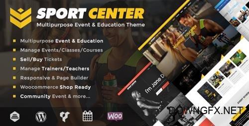 ThemeForest - Sport Center v2.3.0 - Multipurpose Events & Education WordPress Theme - 17600018