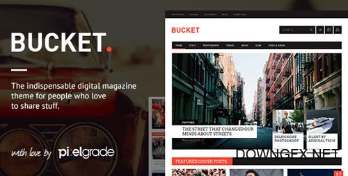 ThemeForest - BUCKET v1.6.10 - A Digital Magazine Style WordPress Theme - 6107209