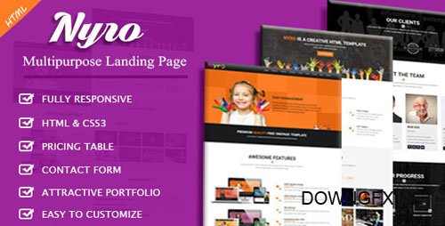 ThemeForest - Nyro v1.0 - Multipurpose Landing Page - 20411903