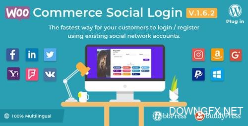 CodeCanyon - WooCommerce Social Login v1.6.2 - WordPress plugin - 8495883