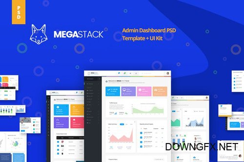 Megastack Admin Dashboard Template + UX & UI Kit