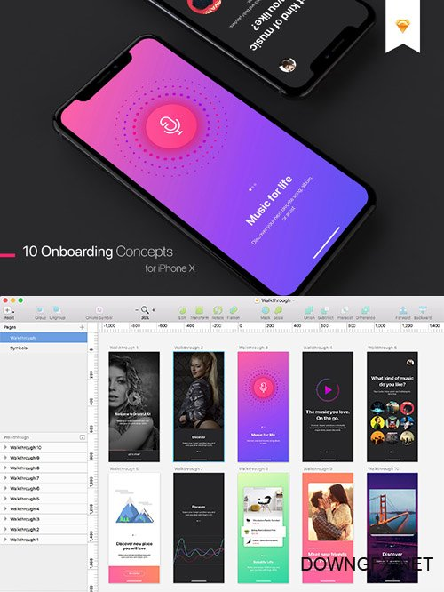 Walkthrough UI Kit for iPhone X - CM 2102597