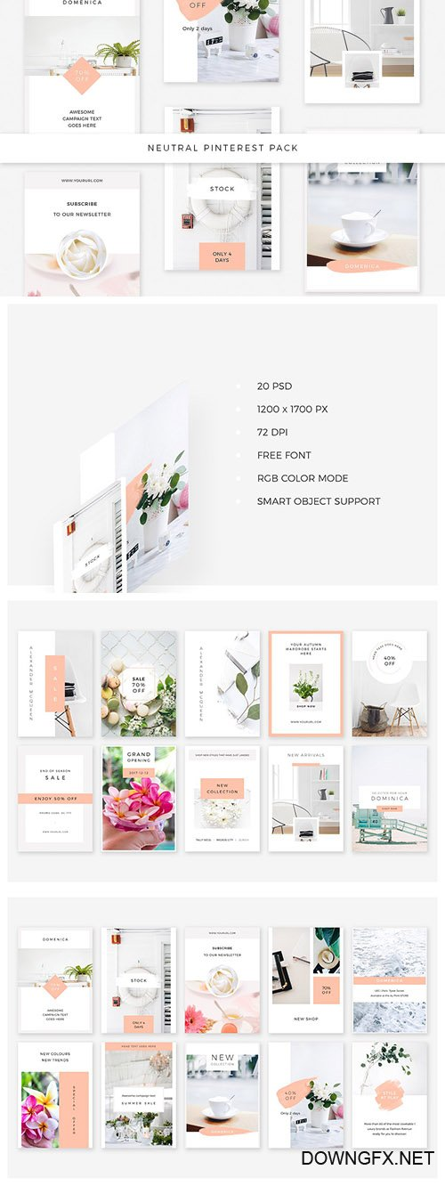 Neutral Pinterest Pack - CM 2063809