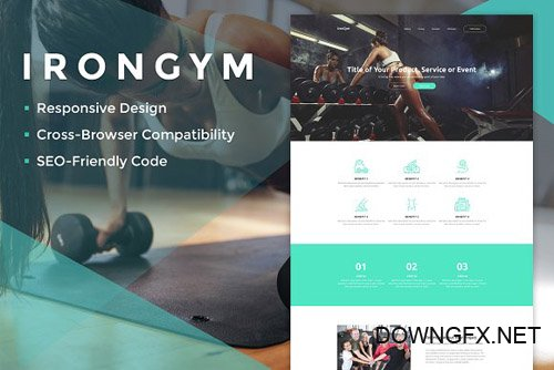 IronGym Landing Page HTML - CM 2156922