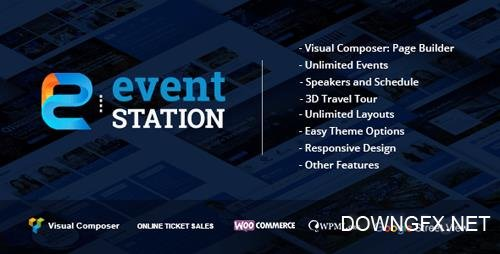 ThemeForest - Event Station v1.2.4 - Event & Conference WordPress Theme - 16019694